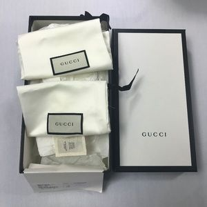Authentic Gucci Empty Shoe Box with Dust bags